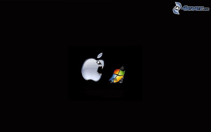 Apple, Windows, denti