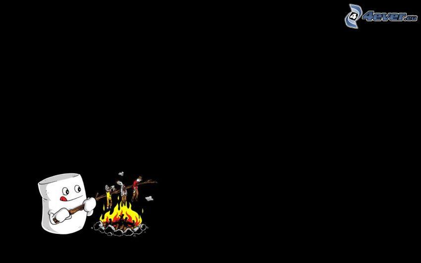 Marshmallow, arrosto sul fuoco all'aperto