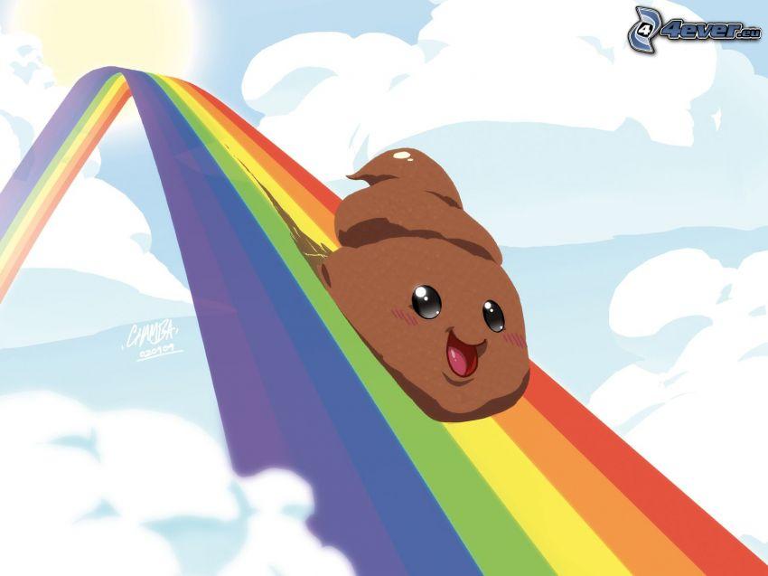 merda, arcobaleno