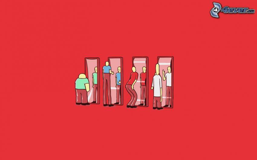 specchio, gente