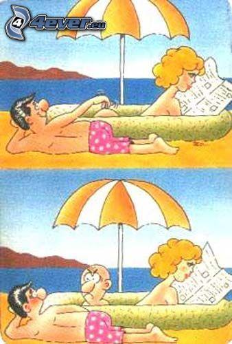 spiacevole sorpresa, spiaggia
