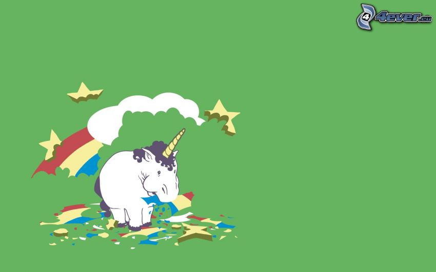 unicorno, arcobaleno, cibo, obesità