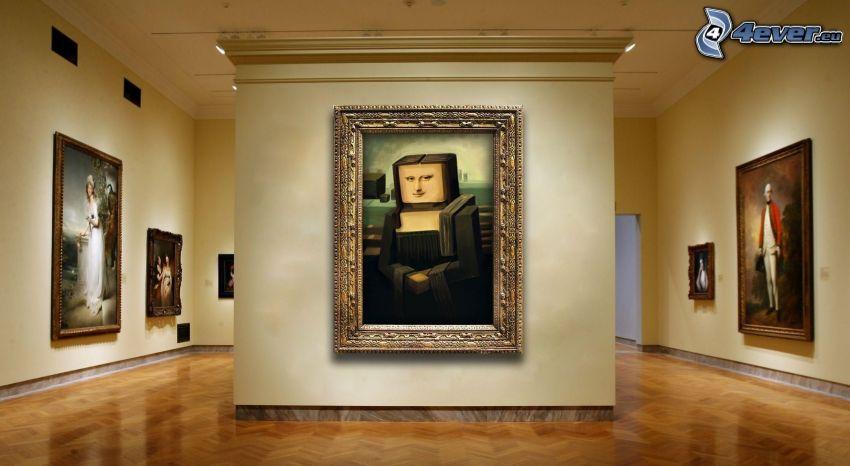 Mona Lisa, parodia, pittura