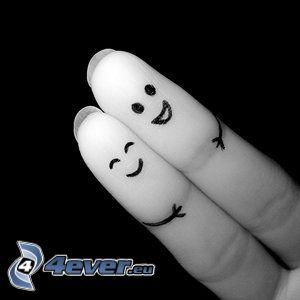 dita, coppia, disegno