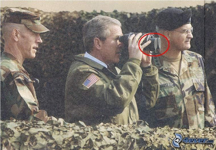 George Bush, binocolo