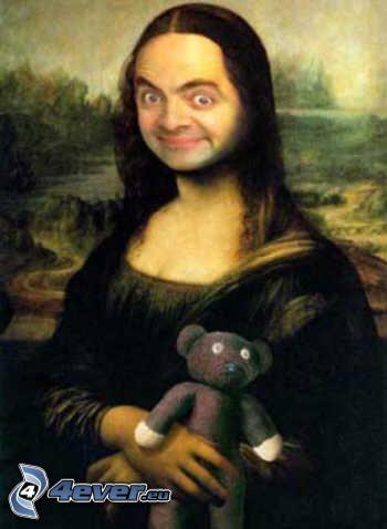 Mr. Bean, parodia, Mona Lisa, orsacchiotto