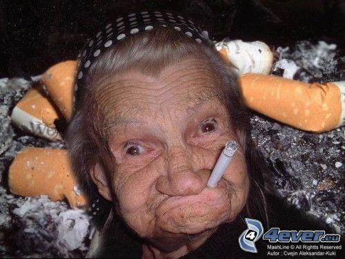 nonna, sigaretta