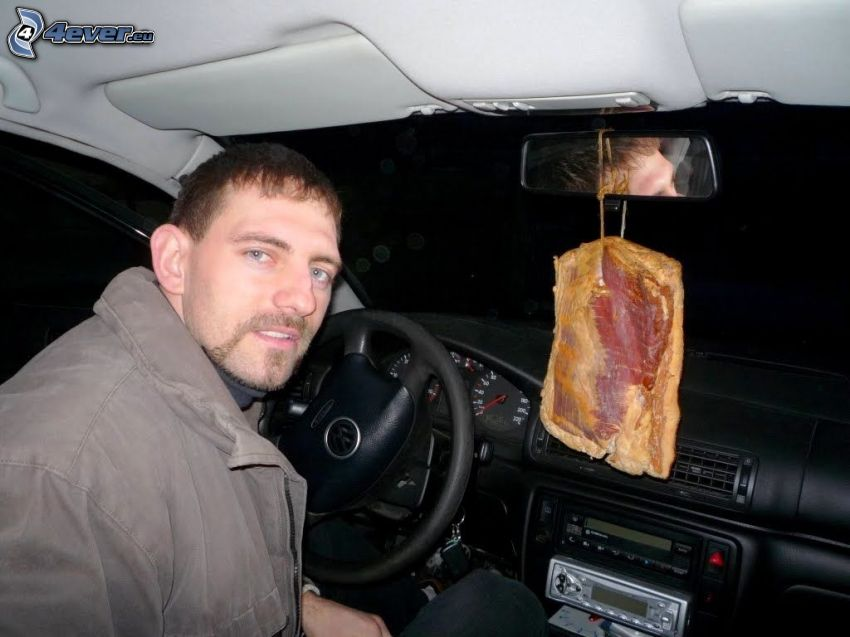 profumo, pancetta, auto