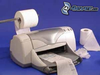 stampante, carta igienica