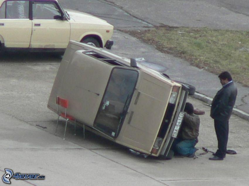 riparazione, sedia, Lada, Romania