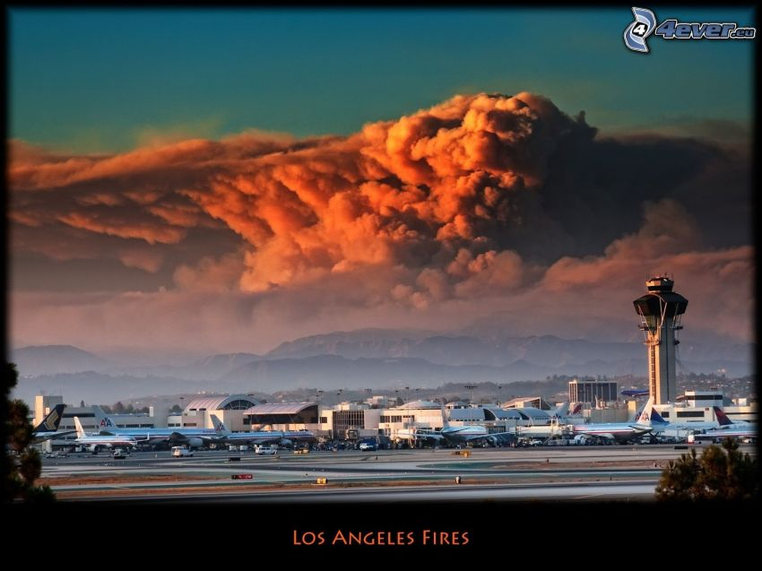 aeroporto di Los Angeles, LAX, incendi, aerei