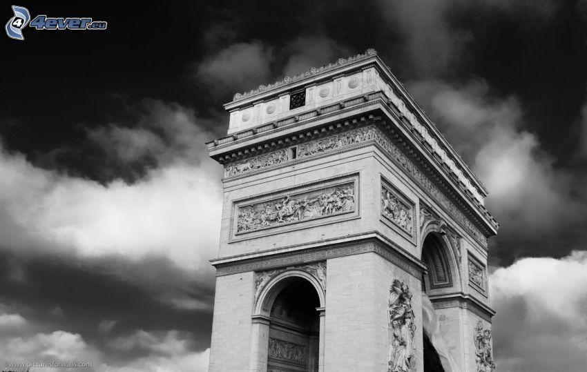 Arco di Trionfo, foto in bianco e nero