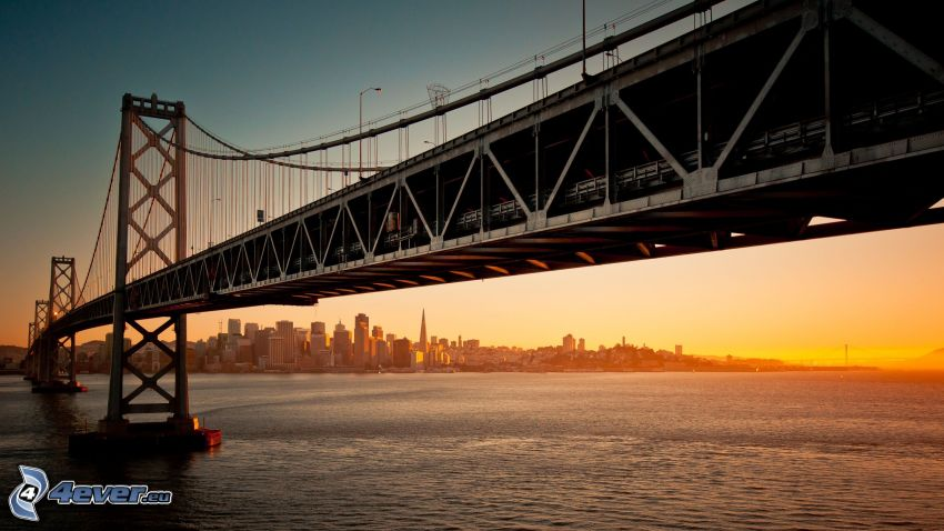 Bay Bridge, San Francisco, tramonto