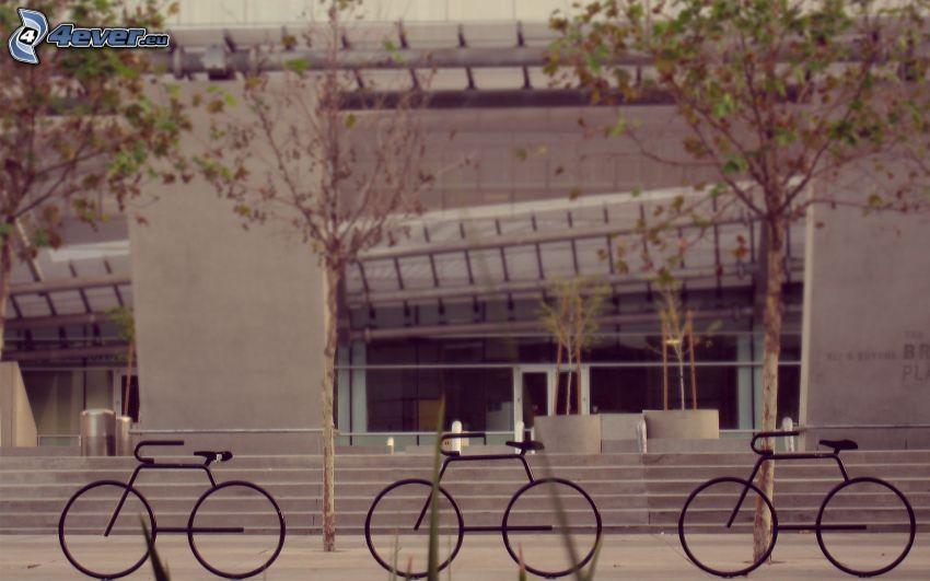 Biciclette, edificio