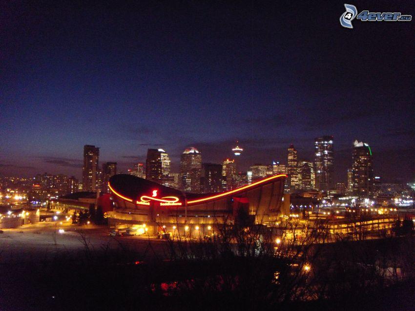 Calgary, città notturno