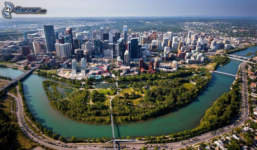 Calgary, il fiume, parco