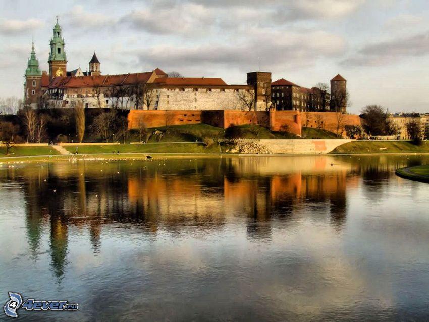 Castello di Wawel, Cracovia, il fiume