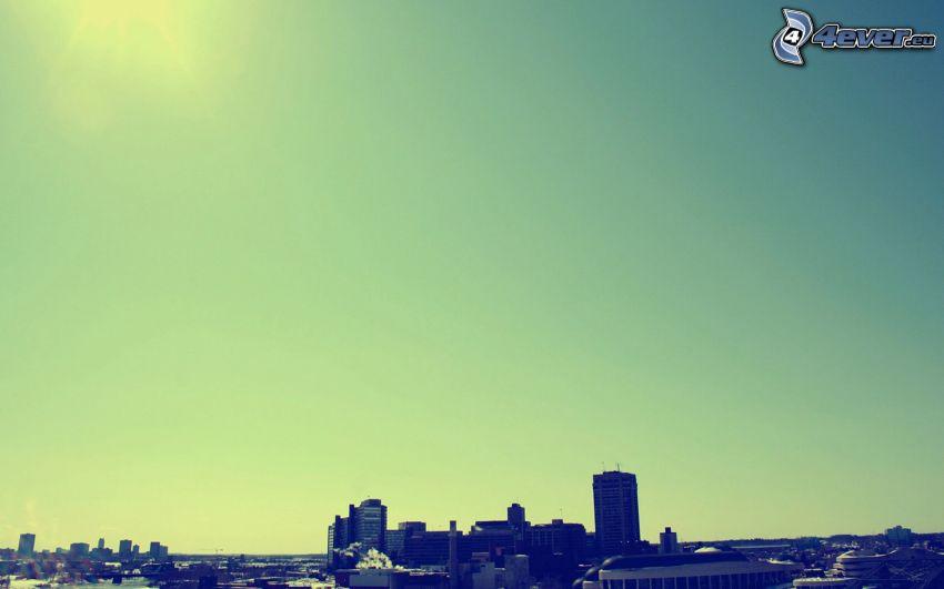 città, cielo