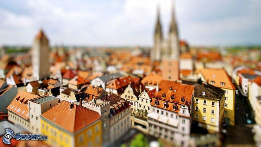 città, diorama