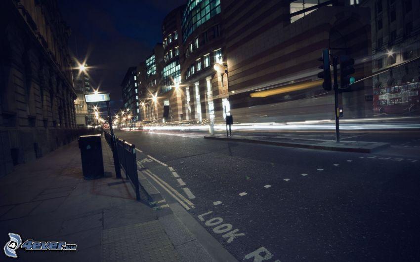 città notturno, strada