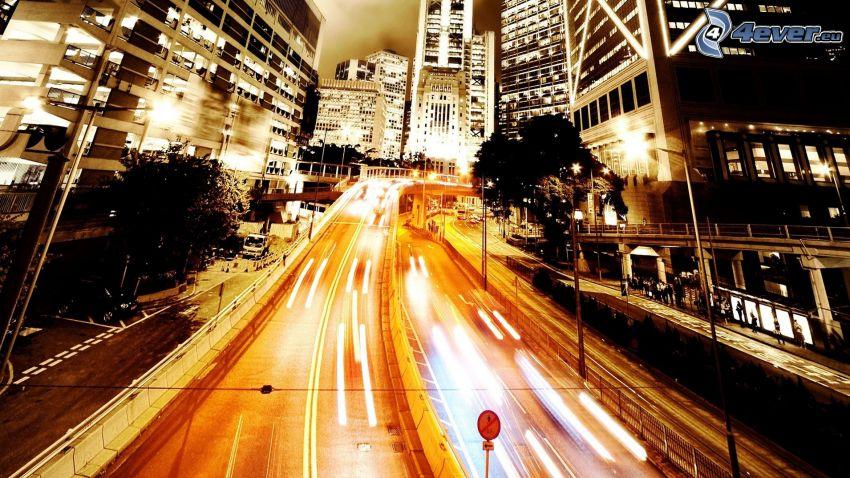 città notturno, Strada di notte