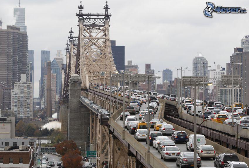 congestione stradale, Queensboro bridge, New York