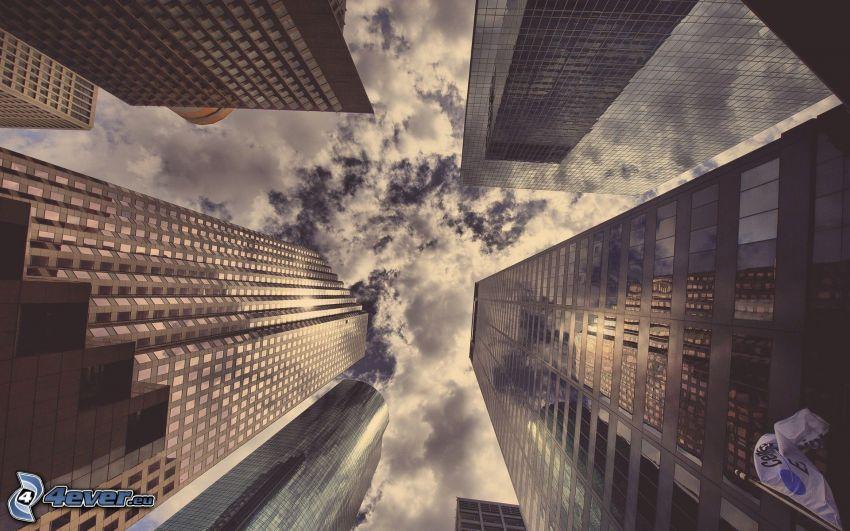 grattacieli, nuvole