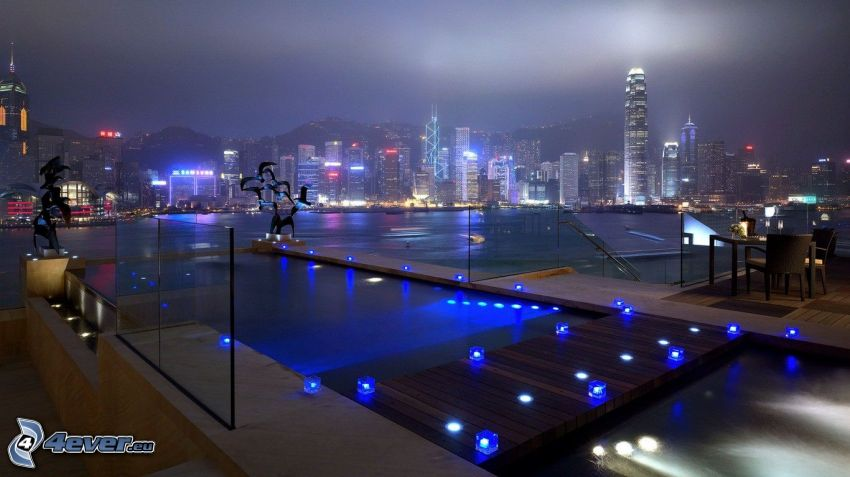 Hong Kong, città notturno