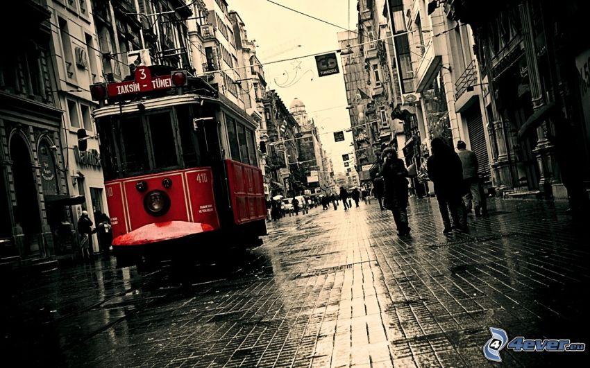 Istanbul, tram, strada