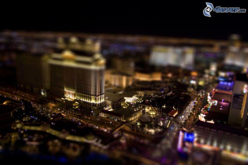 Las Vegas, città notturno, diorama