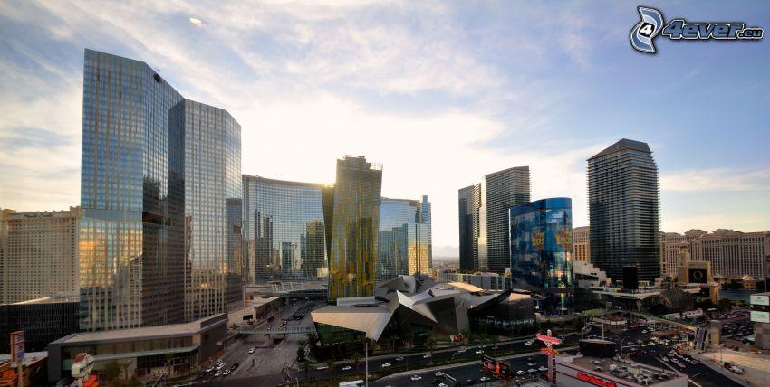 Las Vegas, grattacieli, centro di una città