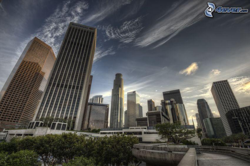 Los Angeles, grattacieli, HDR