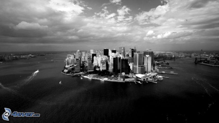 Manhattan, bianco e nero
