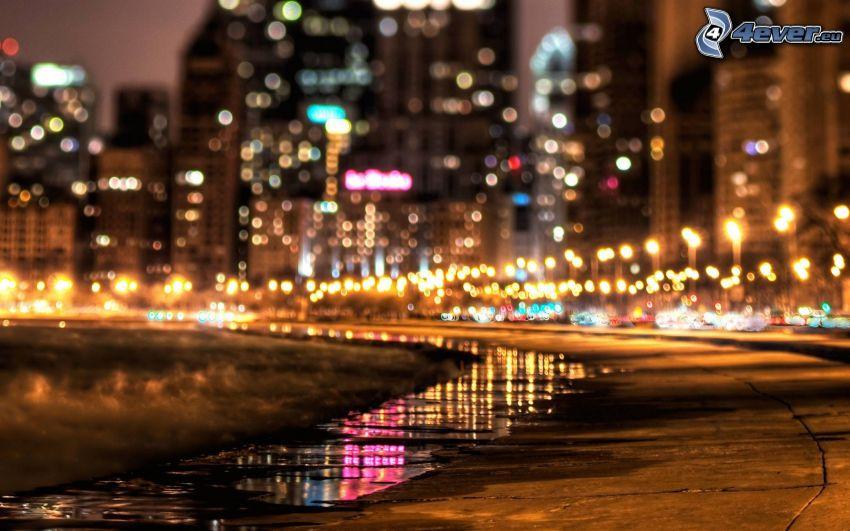 marciapiede, notte