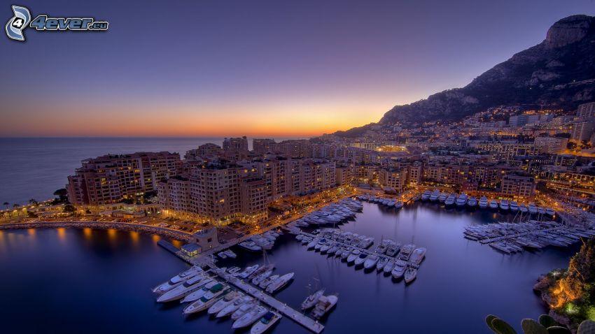 Monaco, mare, grattacieli, porto