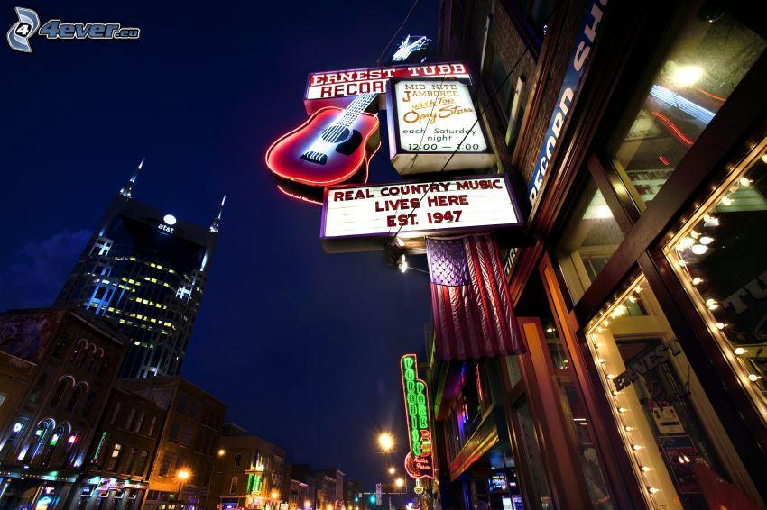 Nashville, città notturno