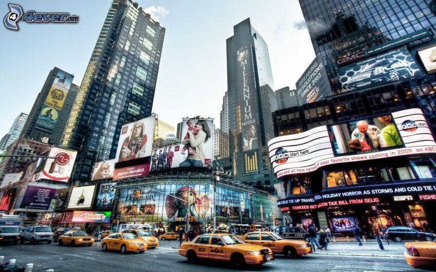 New York, strada, HDR