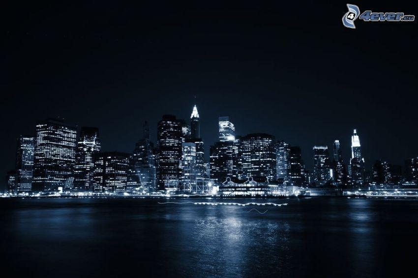 New York durante la notte