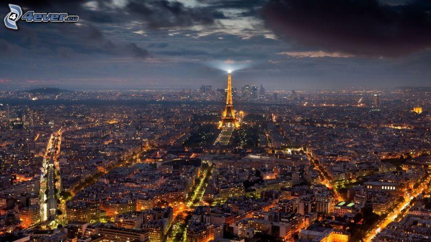 Parigi, città notturno, Torre Eiffel