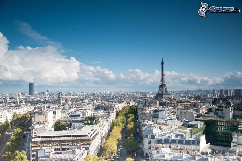 Parigi, Francia, vista della città, Torre Eiffel