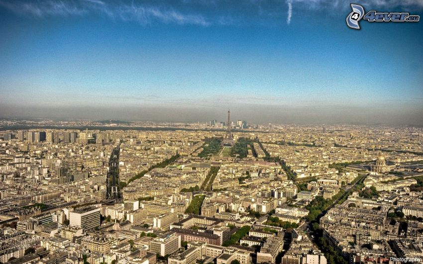 Parigi, Torre Eiffel, vista aerea