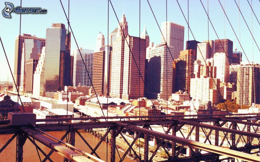 ponte di ferro, grattacieli