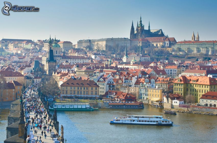 Praga, Castello di Praga, Ponte Carlo, Moldava