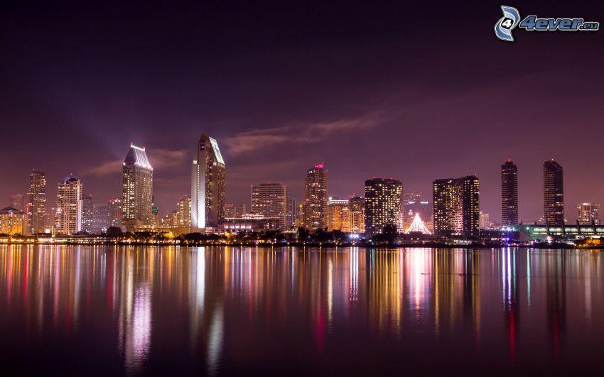 San Diego, città notturno
