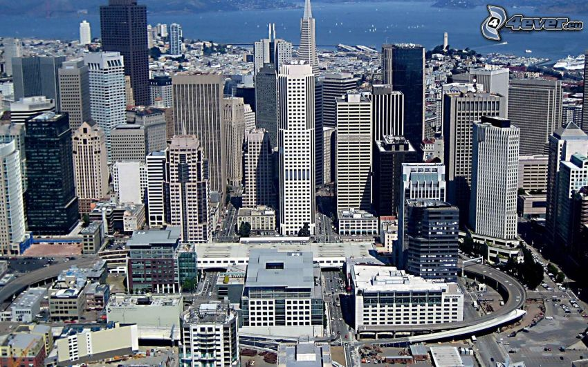 San Francisco, grattacieli, California, USA