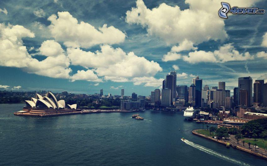 Sydney Opera House, Sydney, nuvole