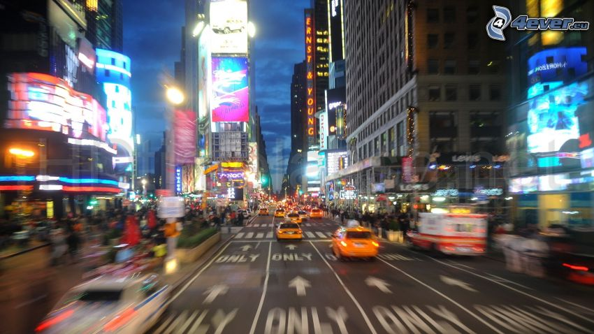 Times Square, New York, strade