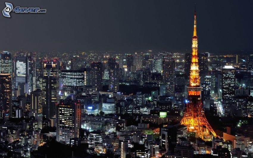 Tokyo, Tokyo Tower, città notturno