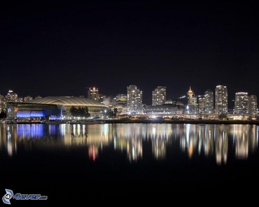 Vancouver, città notturno