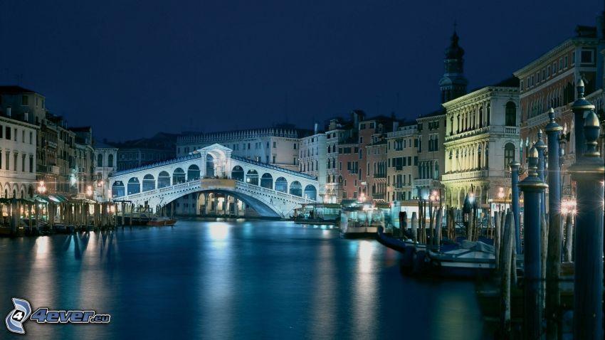Venezia, Italia, ponte, acqua, navi